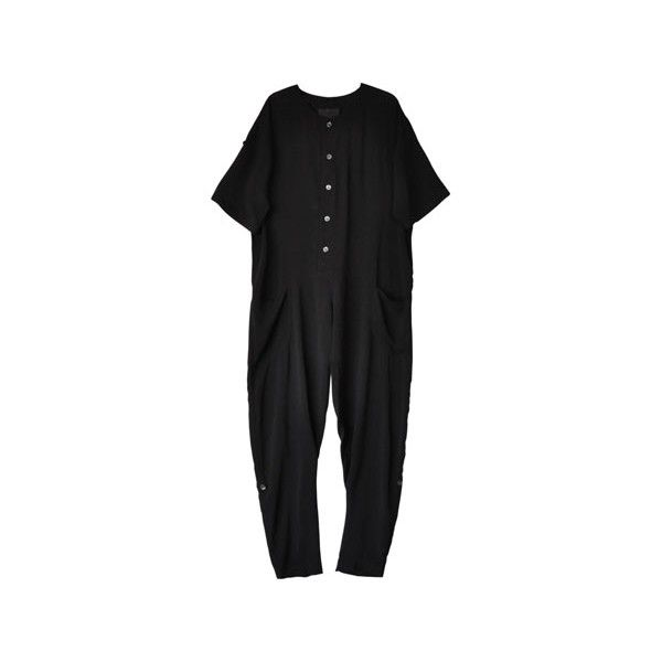 No. 6 Black Wallace Jumpsuit (42470 RSD) ❤ liked on Polyvore featuring jumpsuits, dresses, jumpsuit, skinny leg jumpsuit, black sash belt, black jumpsuit, jumpsuits & rompers and black skinny leg jumpsuit