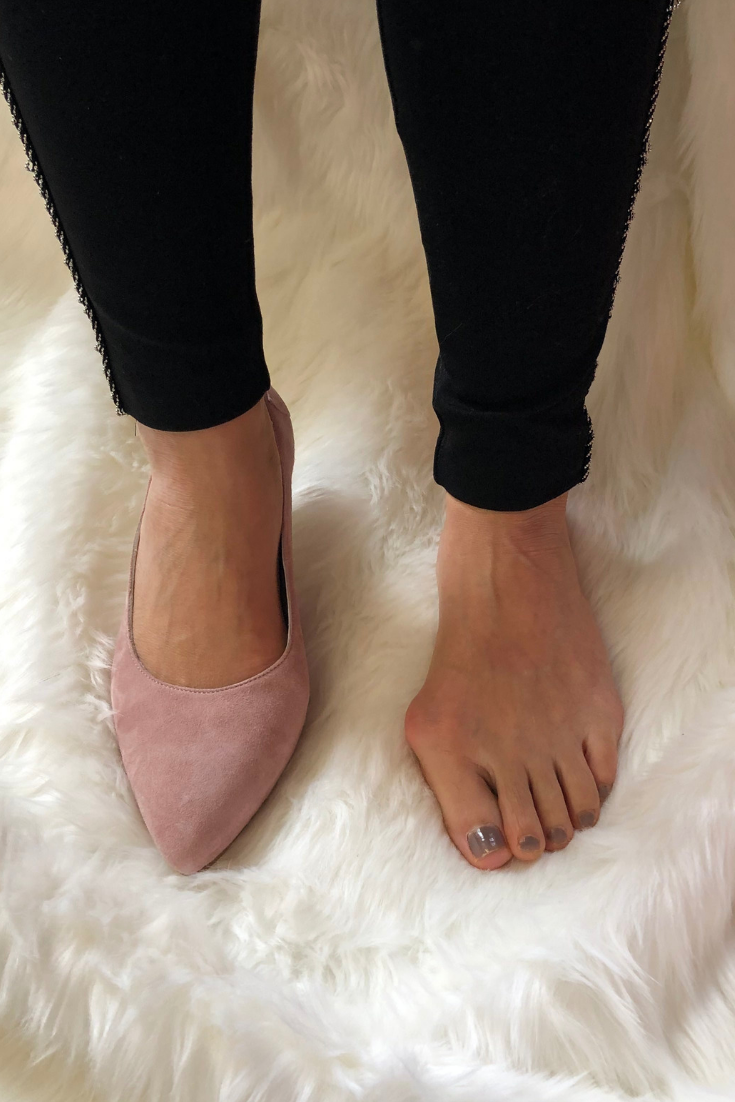 Wide feet shoes, Wide fit shoes, Pink suede