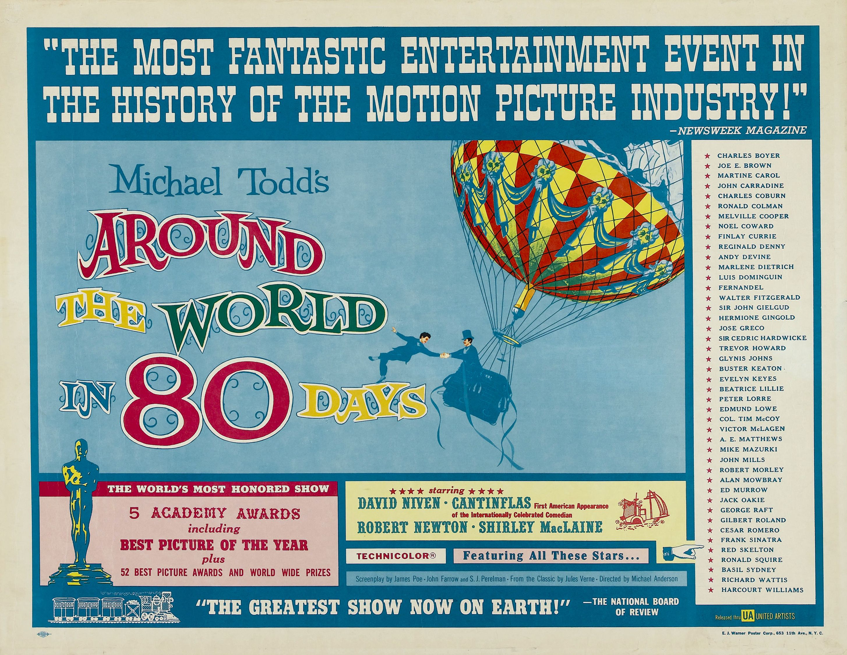 1956 Best Picture Around The World In 80 Days With Images