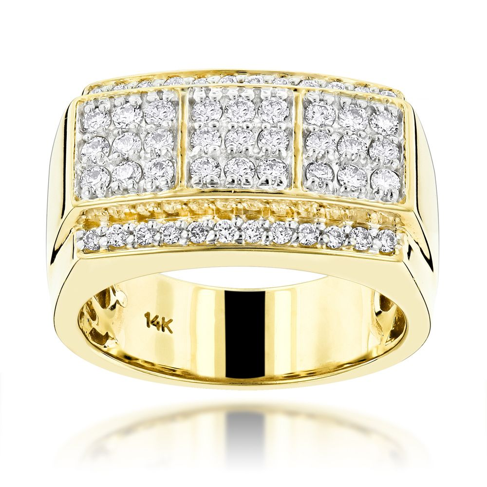 this designer diamond ring for menluxurman showcases 0.95
