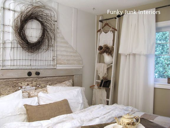 A salvaged white trash bedroom makeover    from burn pile junk! is part of Old bedroom Makeover - Desire a white shabby styled bedroom  Visit this salvaged white trash bedroom makeover sanctuary made from burn pile junk! You won't believe this