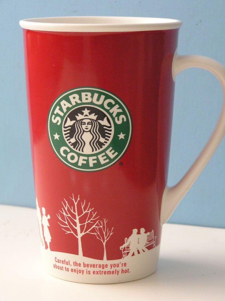2006 Starbucks Coffee Holiday 16oz Grande Mug Christmas Red White