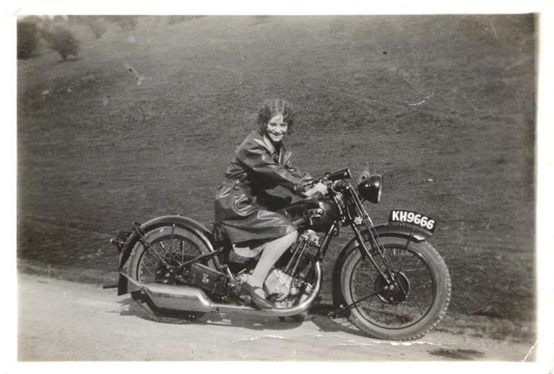 Old school  bike girl