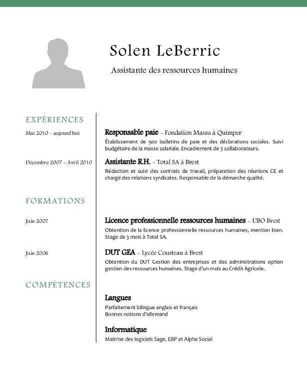 Exemple De Cv Assistant Rh Exemple Cv Lettre De Motivation Stage Exemple De Lettre De Motivation