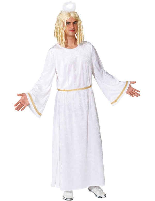 Adult Male Angel Costume In 2020 Costumes Cold Shoulder