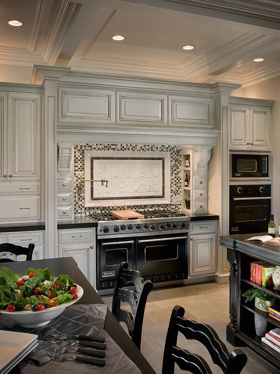French chateau style kitchen featuring a 48\