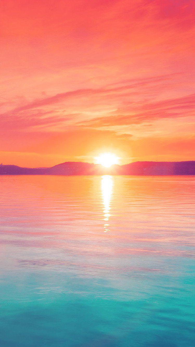 Cute Saying Hd Wallpapers Pastel Sunset Over Mountain Lake Iphone 6 Wallpaper