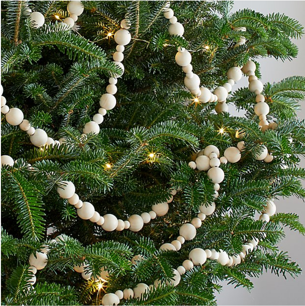 How To Make A Wood Bead Garland The Ginger Home Bead Garland Christmas Tree Diy Christmas Garland Christmas Garland