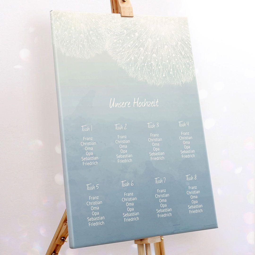Sitzplan zur Hochzeit fertig kaufen personalisiert & ganz