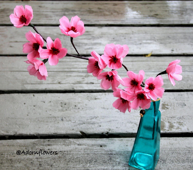 Cherry blossomsapple blossoms paper flowers ideas diy cherry blossomsapple blossoms paper flowers 1000 via etsy mightylinksfo