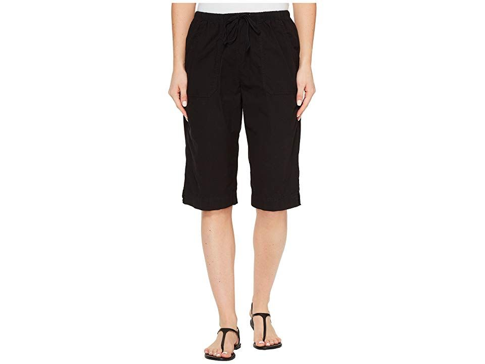 Fresh Produce Park Avenue Pedal Pusher Black Womens Shorts Easytowear clothing that fits your life Pullon pedal pusher has a higher rise and relaxed leg that hits just be...