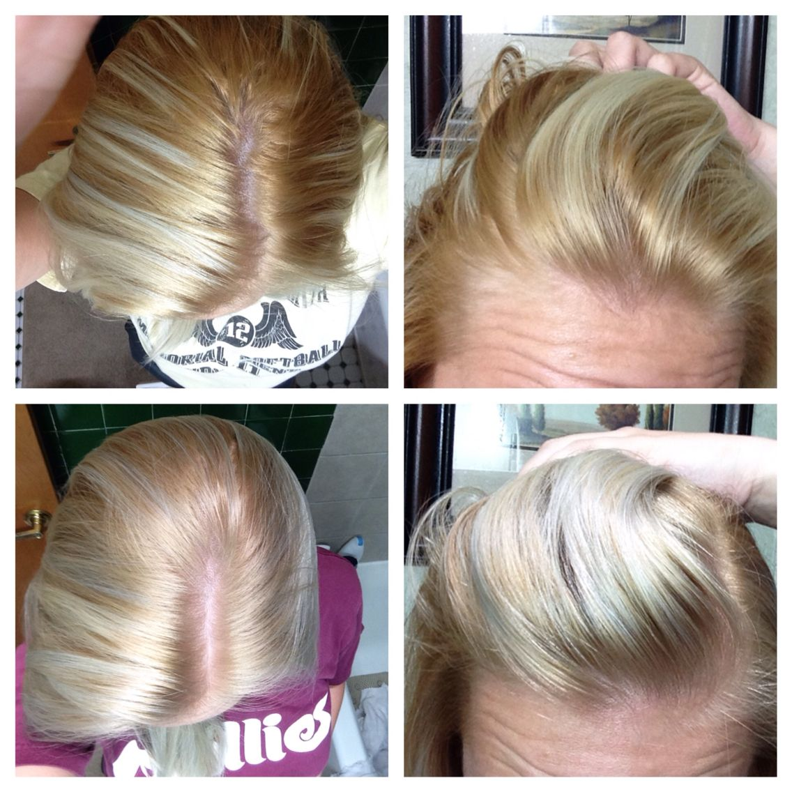 Wella T14 Toner Diy Before After This Is My Experience Followed Directions On Box Except Only Left O Diy Hair Toner Wella Hair Color Temporary Hair Dye Diy