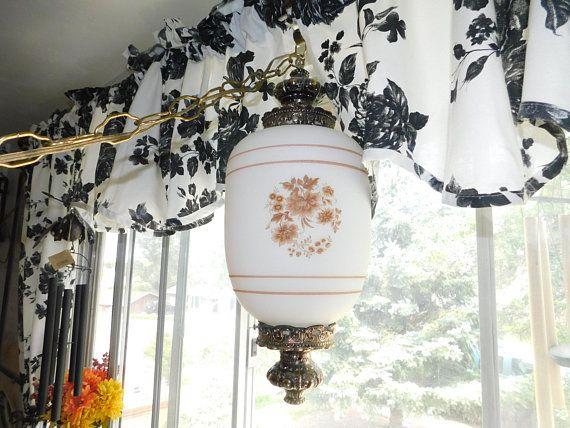 Swag Hanging Lamp, Vintage Hanging Lamp, Vintage Lamp, Vintage Home