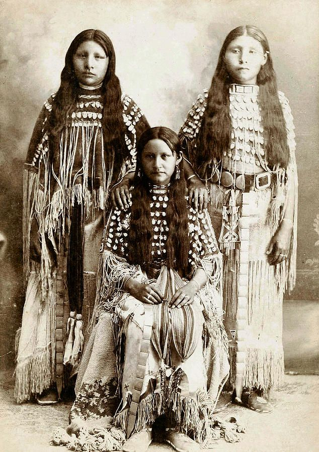 Young Kiowa Belles 1898 by Unknown Native american