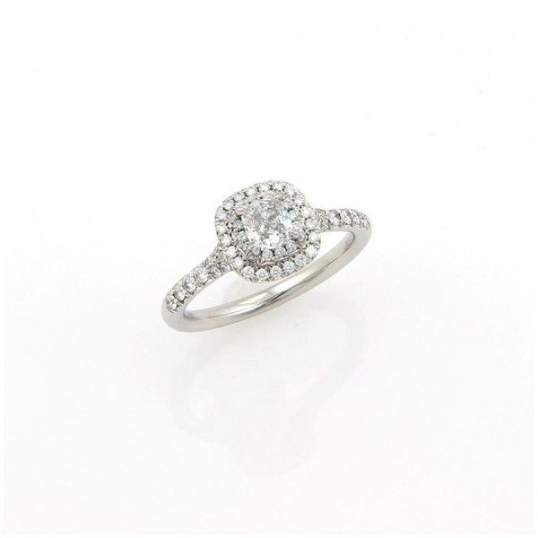 d26407cb1e78 Pre-owned Tiffany   Co. Soleste Diamond Platinum Engagement Ring ...