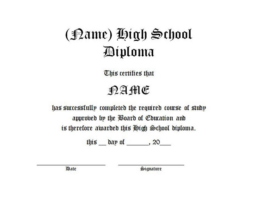 High School Diploma | Free Word Templates Customizable Wording  Diploma Word Template