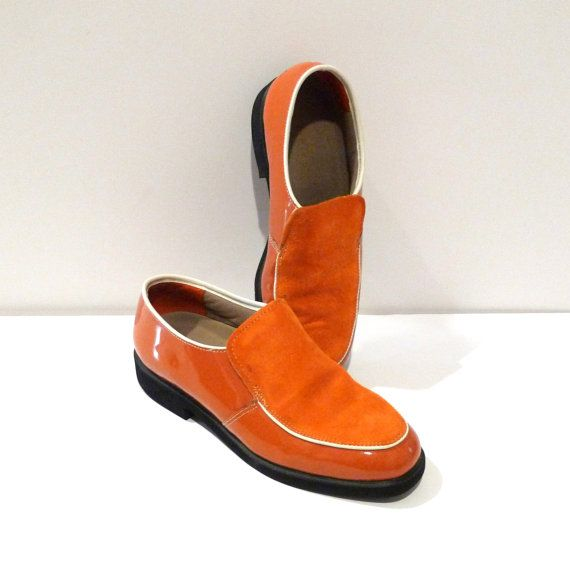 Hush Puppies Shoes Orange Patent And Suede Size 8 5 Womens Etsy Hush Puppies Shoes Hush Puppies Suede Leather