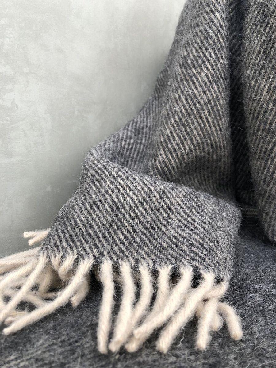 Dunkelgraue Wolldecke Wool Plaid Dark Grey Studio Fjer In 2020 Wolldecke Graue Decke Grau