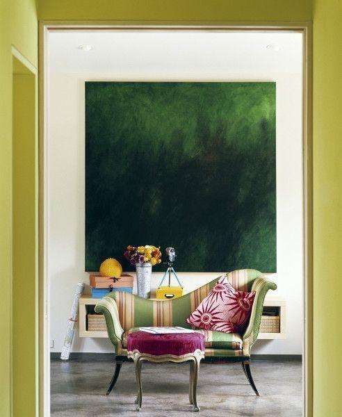 Frühling Ideen für Haus Einrichtungen | Bunten Sessel mit Streifen ...