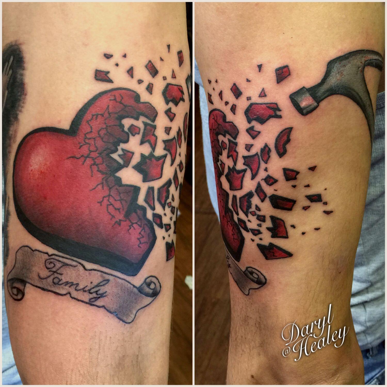 Shattered heart tattoo. | tattoo ideas | Pinterest | Tattoo