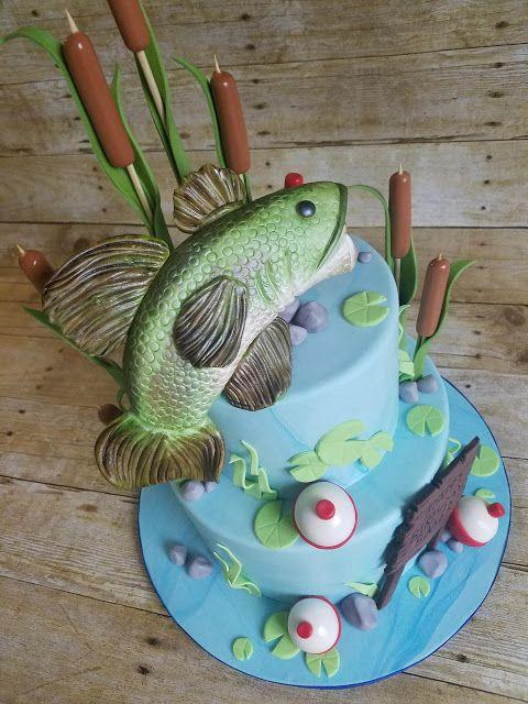 Engagement Cakes Fish Cake Birthday Bass Fish Cake Fish Cake