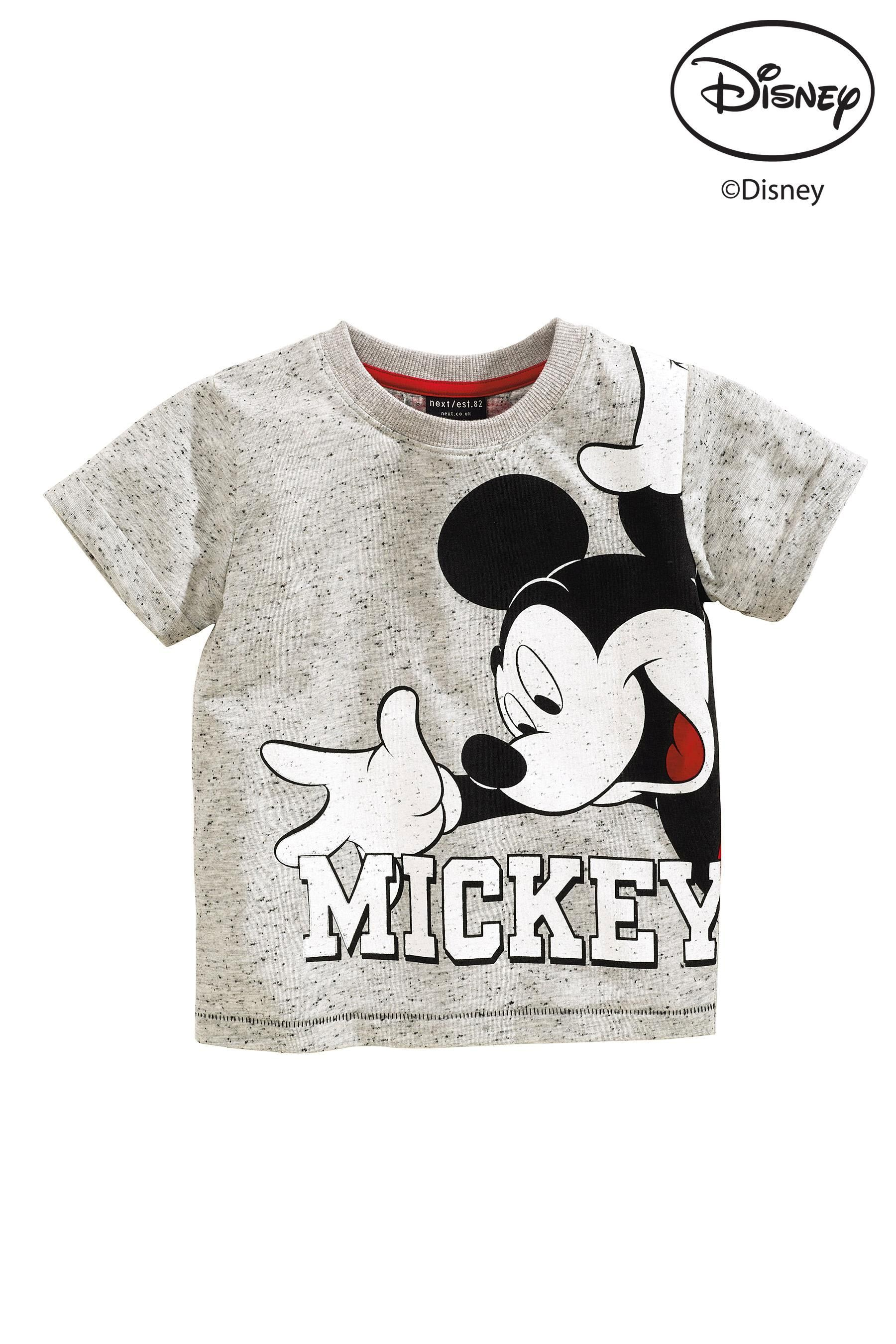 200ee2a577 Buy Grey Mickey Mouse™ T-Shirt (3mths-6yrs) from the Next UK online shop