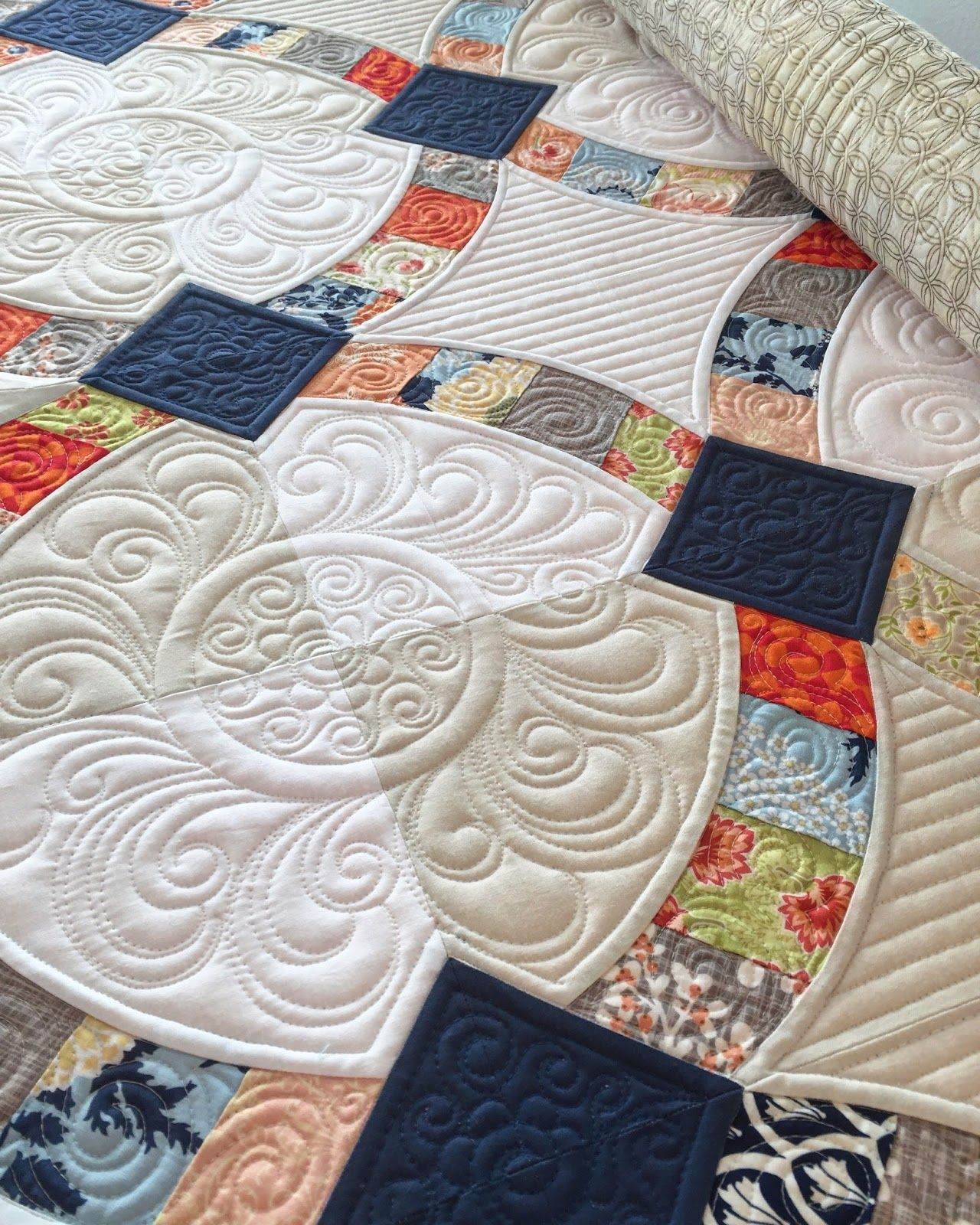 metro hoops quilt at sew kind of wonderful wedding ring quilts