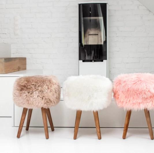 New Zealand Sheepskin Stool Craft Room Decor Home Room Design Cute Room Decor