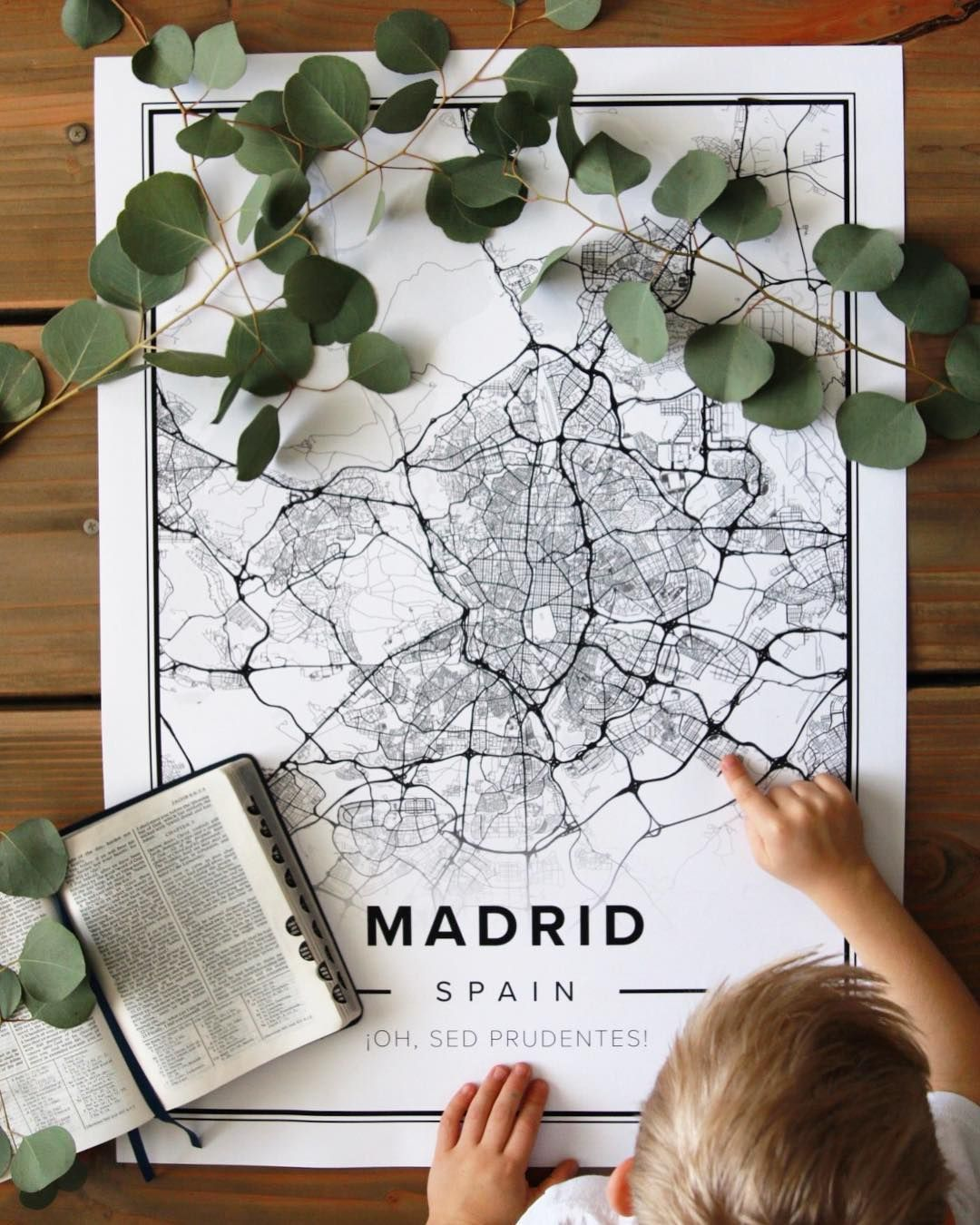 Map poster of Madrid Spain Print size 50 x 70 cm available at