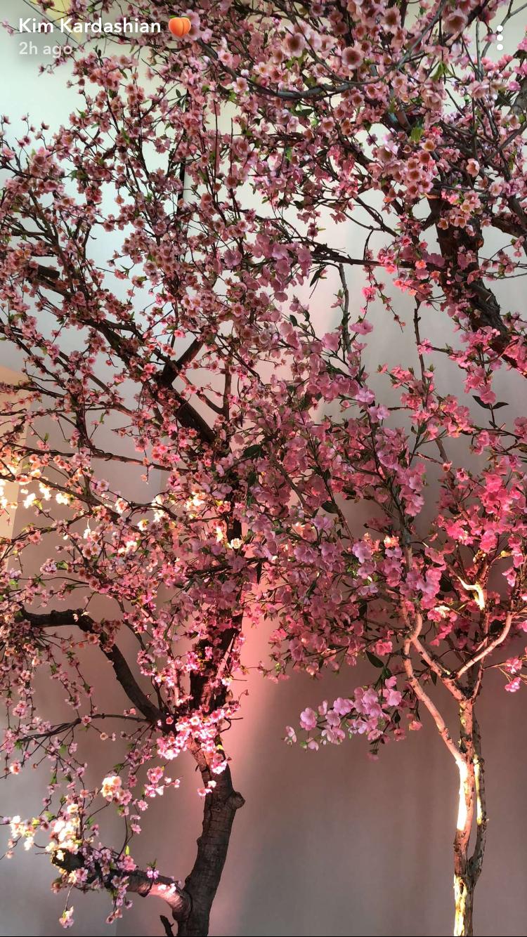 Beautiful Japanese Blossoms From Kim Kardashian S Baby 3 Baby Shower