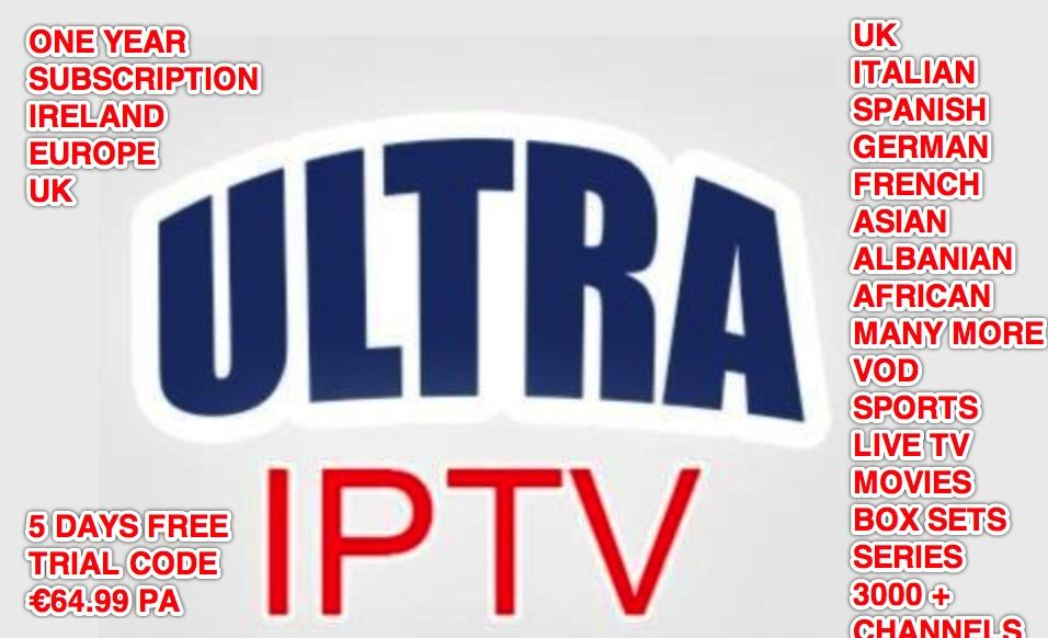 2017 Ultra IPTV APP 3000+ Channels - One year Android/Smart