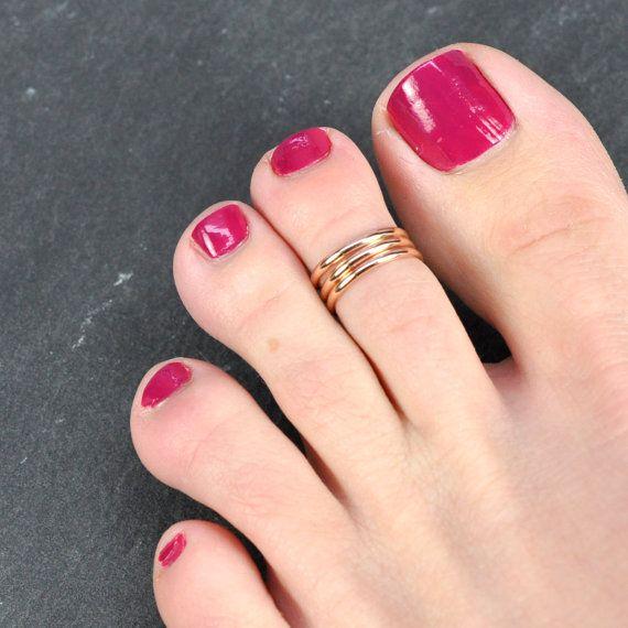 Gold Toe Ring Rose Gold Pinkie Ring Rose Gold Toe Ring Rose Gold Ring, Thin Gold Toe Ring