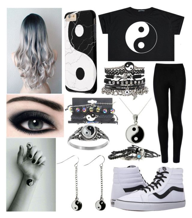 """""""Theme: Yin and Yang"""" by mel-loves-bands-and-anime ❤ liked on Polyvore featuring Wolford, Vans, Journee Collection, Carolina Glamour Collection and ASOS"""