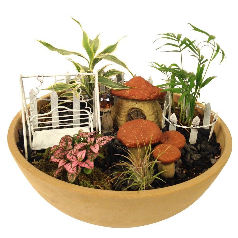 fairy garden kit. Arcadia Garden Products Hamlet Polyresin Fairy Kit (11-Piece)-FG01 -