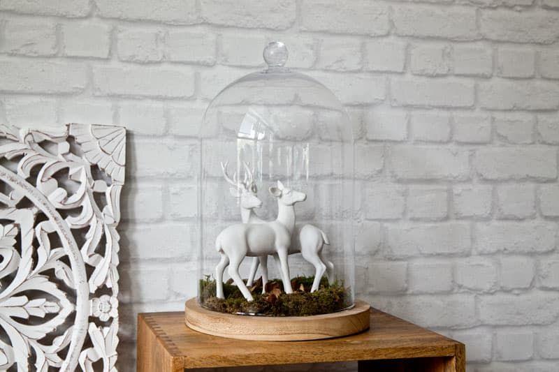 Trend glasglocke etag re co herbstliches weihnachten glasglocke und winter weihnachten - Glasglocke dekorieren ...