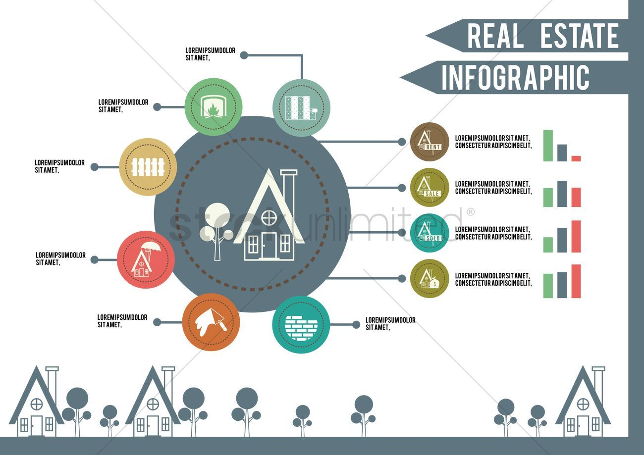 Real estate infographic stock vector