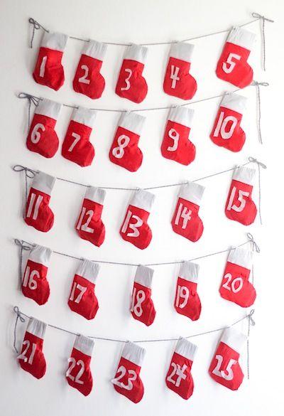 Henry Happened stocking garland advent calendar Craftie bits