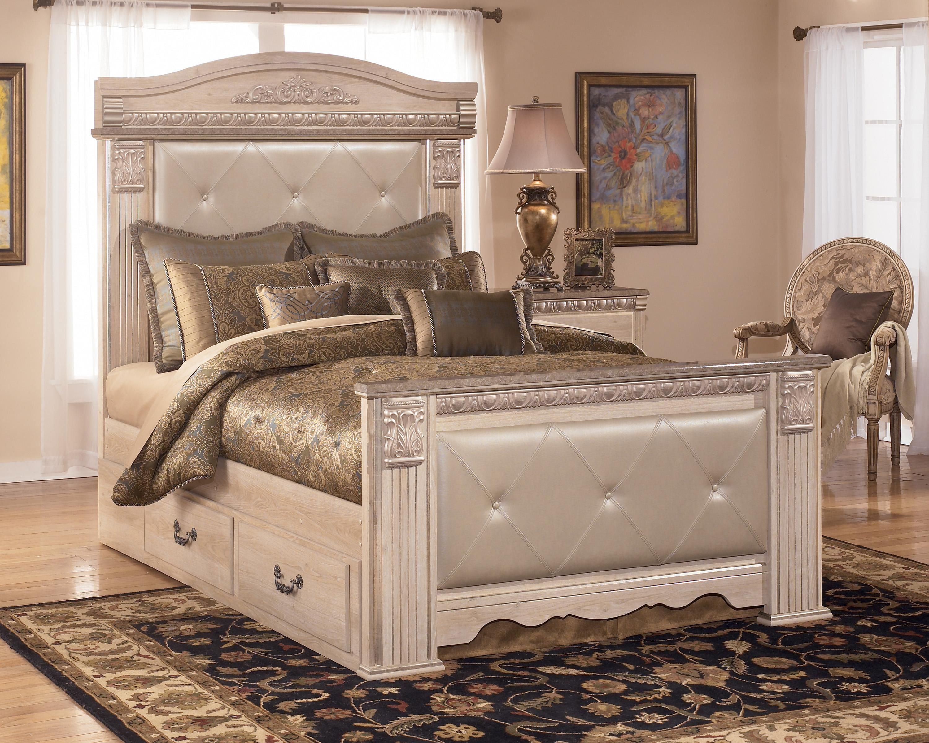 silverglade queen upholstered mansion bed with storage by signature