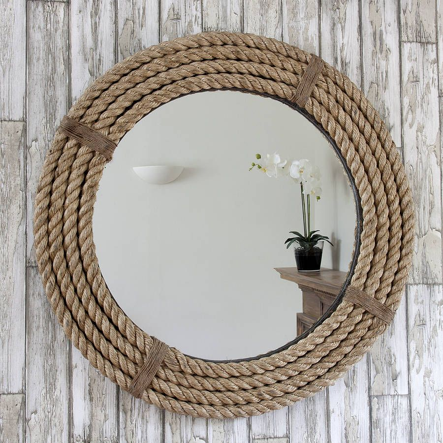 Twisted rope round mirror by decorative mirrors online notonthehighstreet com
