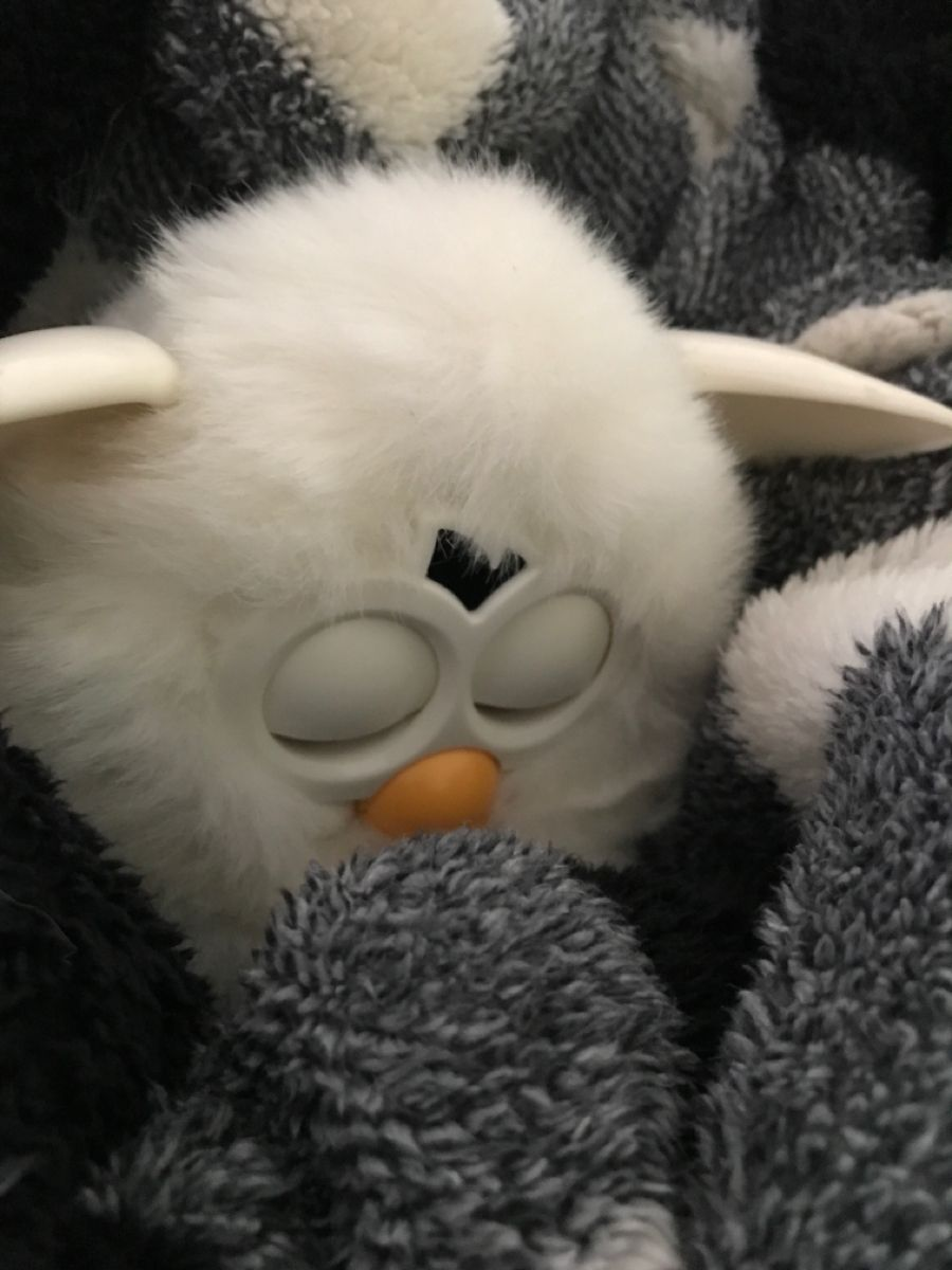 My Cute White Furby Boom Furby Furby Boom Black Aesthetic Wallpaper