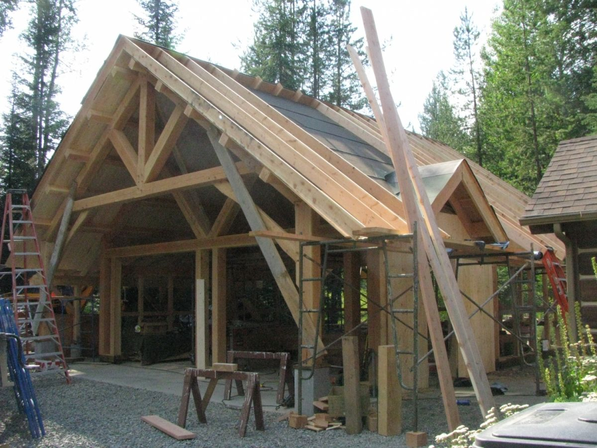 Timber Frame Garage With Loft Construction