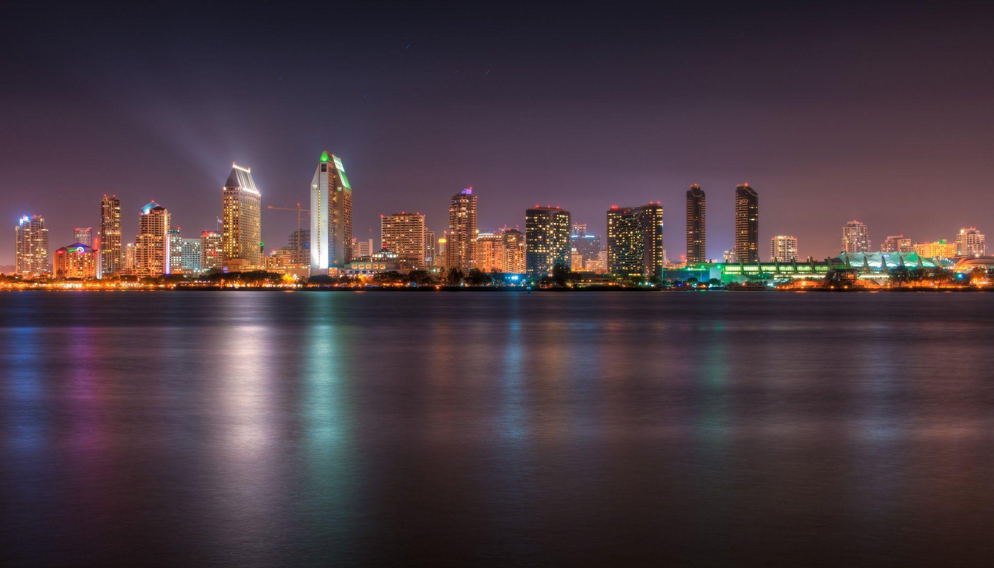 San Diego Skyline Widescreen HD Wallpaper Cityscape