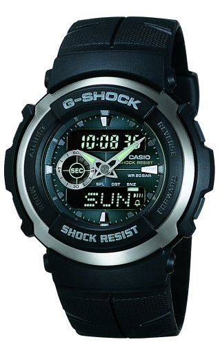 4ce2379f463 Homens · Relógios · Casio Men s G300-3AV G-Shock Analog-Digital Black  Street Rider Watch G