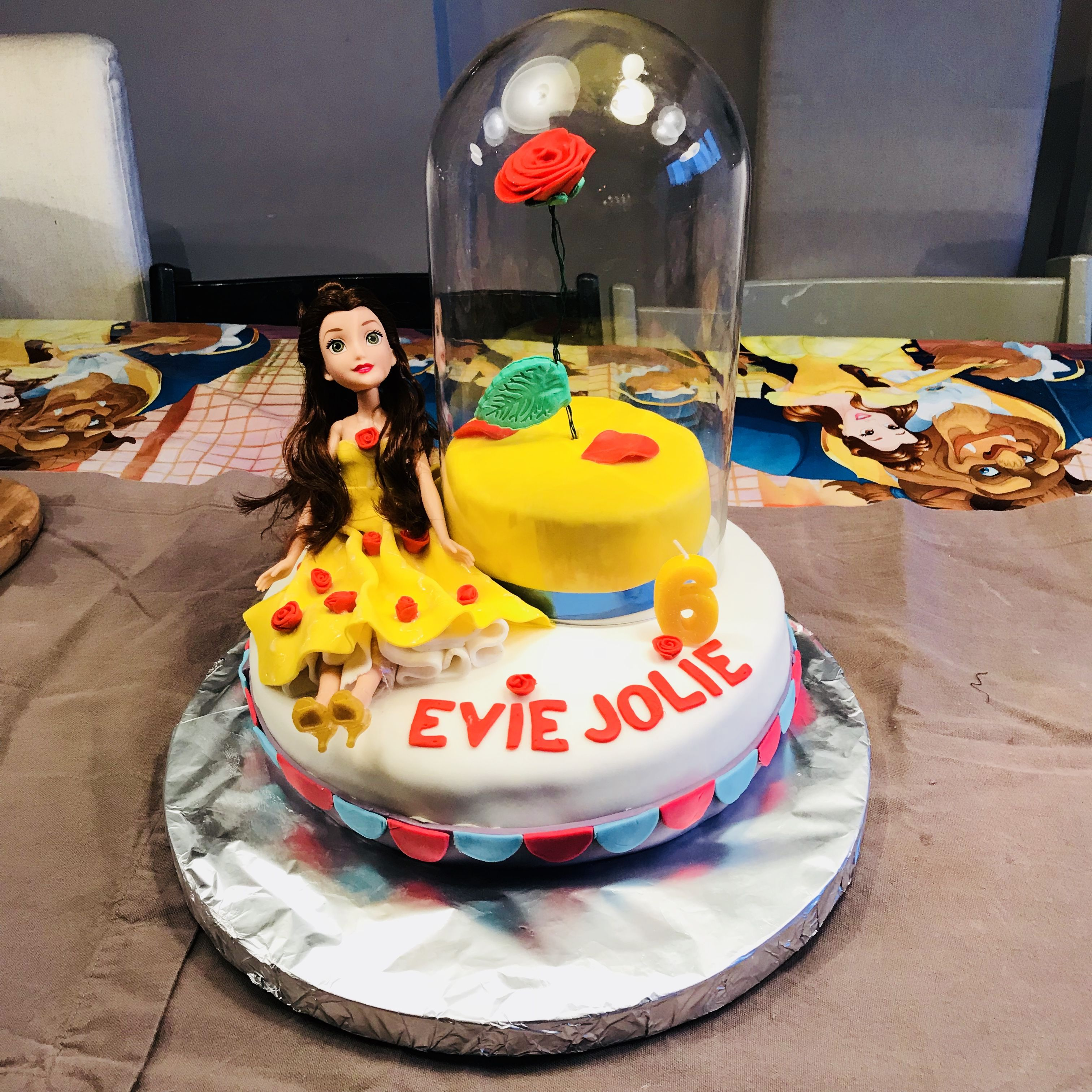 Belle Beauty and the beast toddler birthday cake idea tobradov EJ