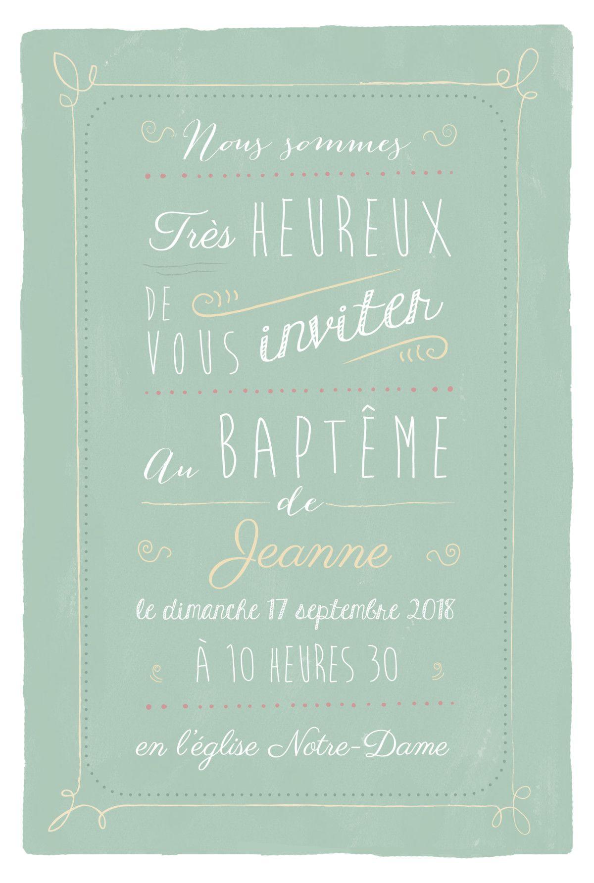 Avec le faire-part de baptême Happy day, vous inviterez vos proches à une journée festive et placée sous le signe de la bonne humeur. ...