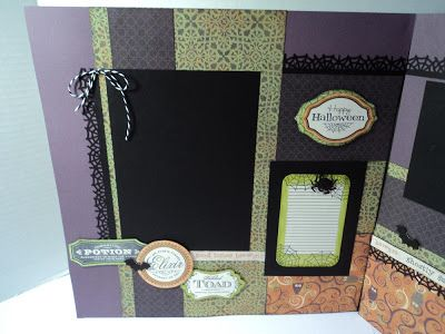 Di's Stamping Room: Moonlight Halloween two page layout