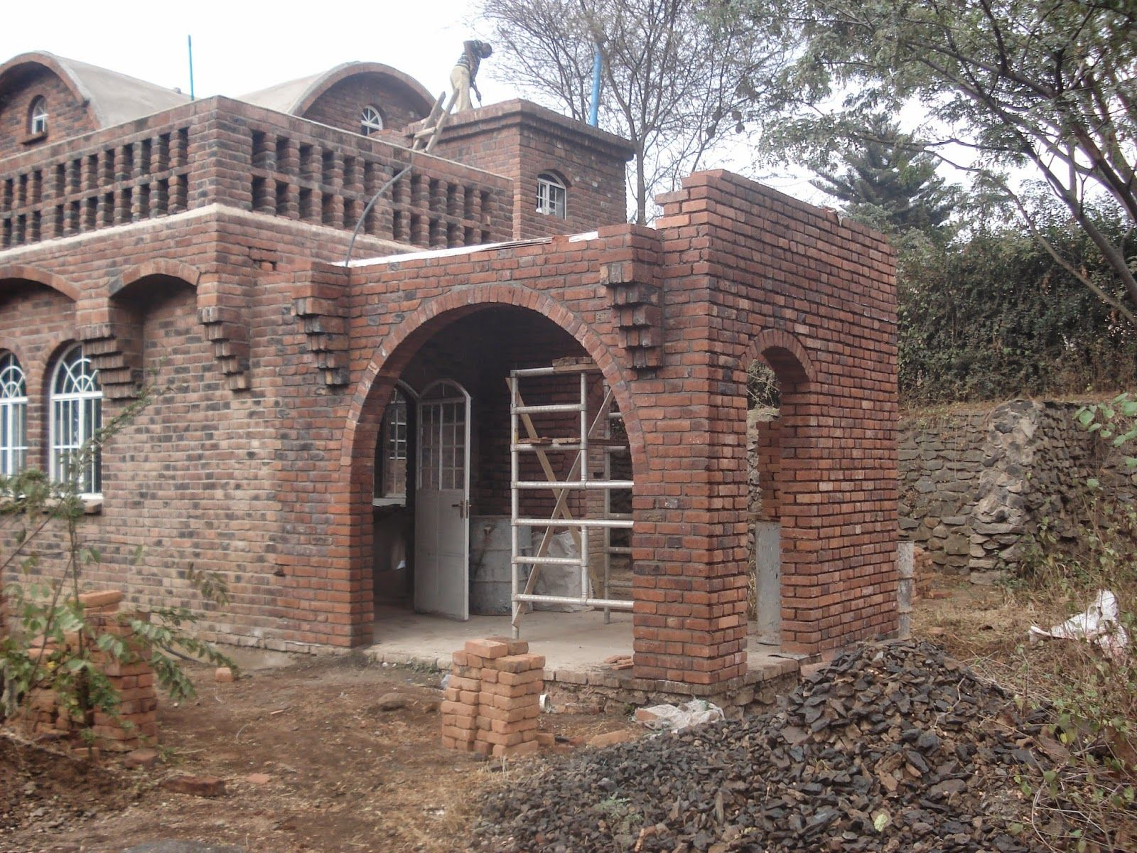 Catalan Vaulted Roof Ceiling Brick Architecture Masonry Construction Brick Construction