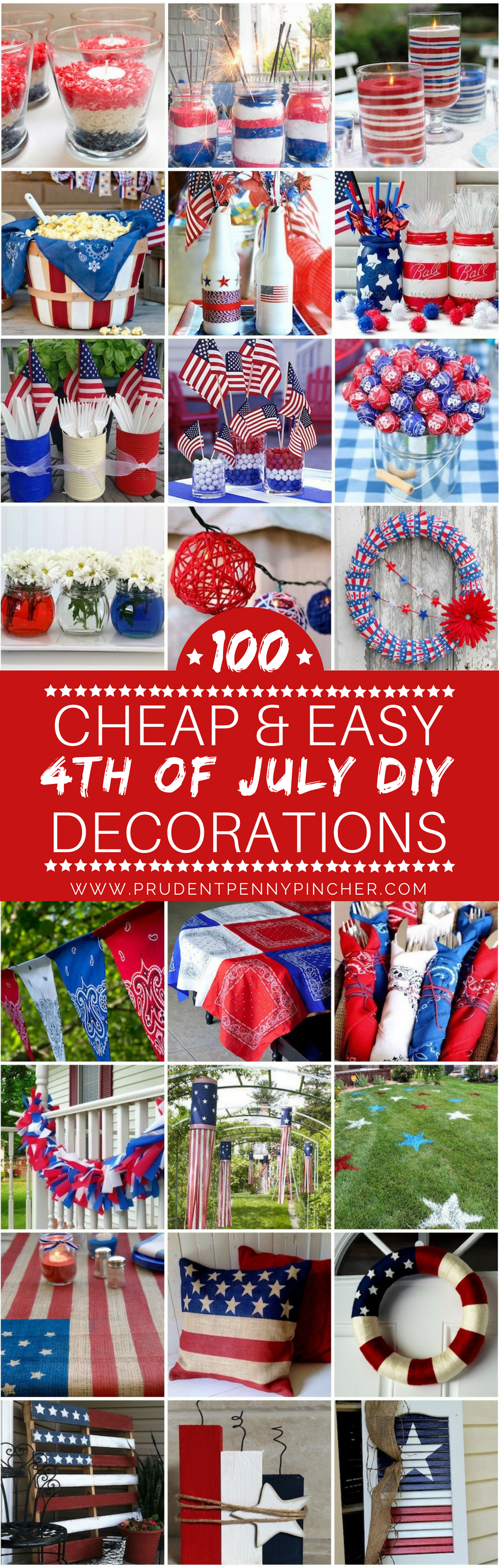 100 cheap and easy 4th of july diy party decor ideas diy for 4th of july party decoration