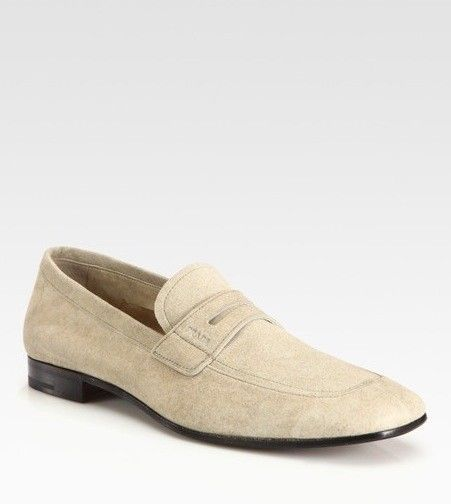PRADA Mens Loafers Shoes Suede Tan #PRADA #Couture #Loafers