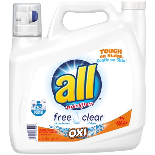 All Oxi Laundry Detergent Free Clear 79 Loads White